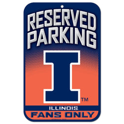 University of Illinois Reserved Parking Plastic Sign - STL Authentics
