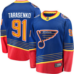 ST. LOUIS BLUES MENS NHL VLADIMIR TARASENKO #91 HOME BREAKAWAY JERSEY