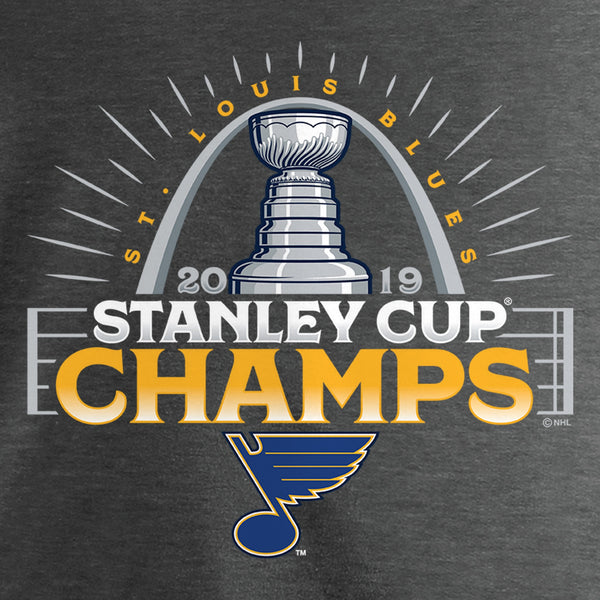 WOMENS 2019 STANLEY CUP FINAL CHAMPS GO AHEAD GOAL OFFICIAL PARADE TEE - CHARCOAL
