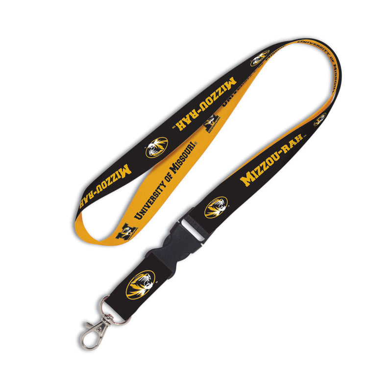 University of Missouri WinCraft 1-inch Lanyard with Detachable Buckle | STL Authentics