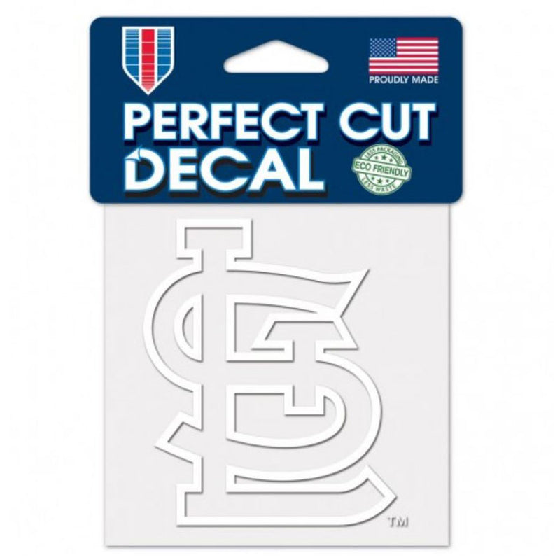 St. Louis Cardinals WinCraft 4x4 Perfect Cut Decal - White | STL Authentics