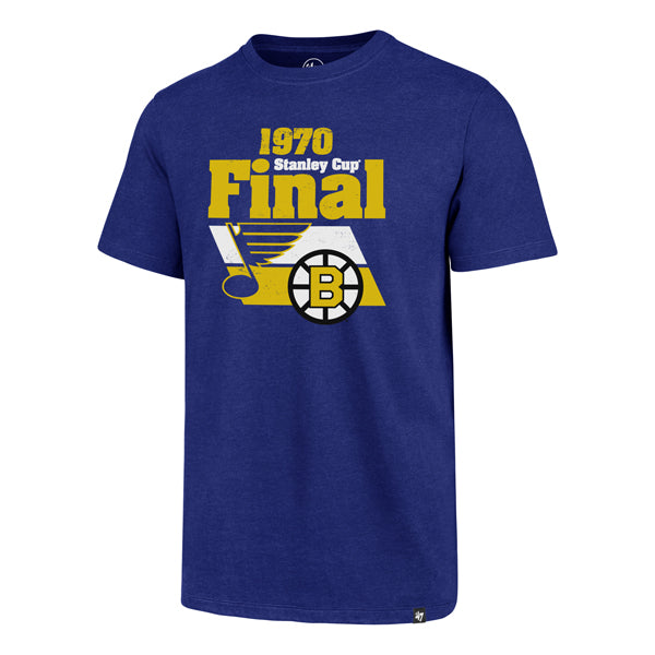 St. Louis Blues 47 Brand Stanley Cup Final 1970 Retro Dueling Tee - Blue - STL Authentics