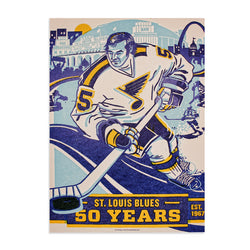 NHL 50th Anniversary St. Louis Official Poster - STL Authentics