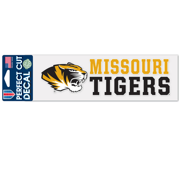 University of Missouri WinCraft 3x10 Stacked Design Perfect Cut Decal - STL Authentics