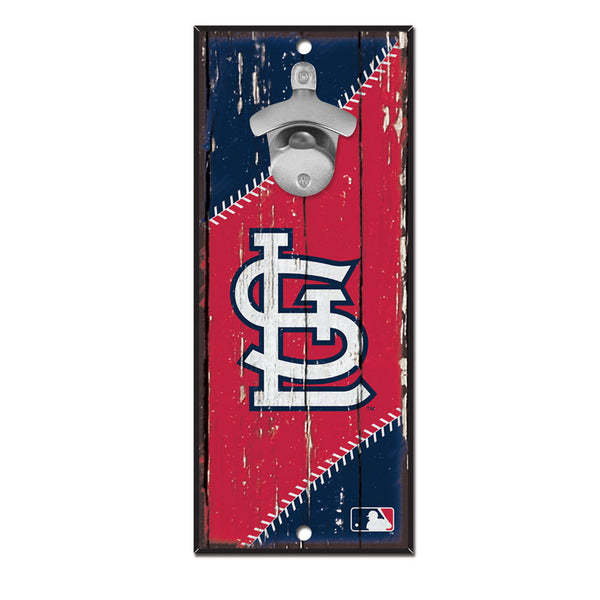 St. Louis Cardinals WinCraft 5x11 Bottle Opener Wood Sign | STL Authentics