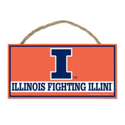 University of Illinois 5x10 Wood Sign with Rope | STL Authentics