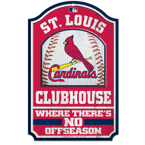 St. Louis Cardinals WinCraft 11x17 Clubhouse Wood Sign | STL Authentics