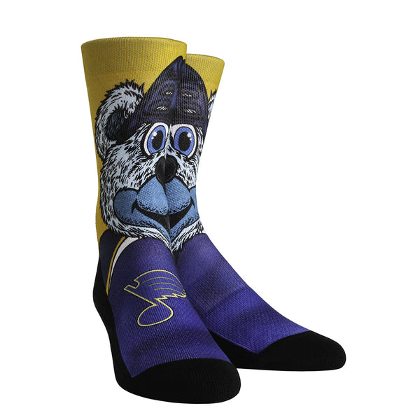 St. Louis Blues RockEm Youth Louie Socks - Blue/Gold - STL Authentics