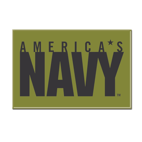 Navy WinCraft 2x3 Metal Fridge Magnet - STL Authentics