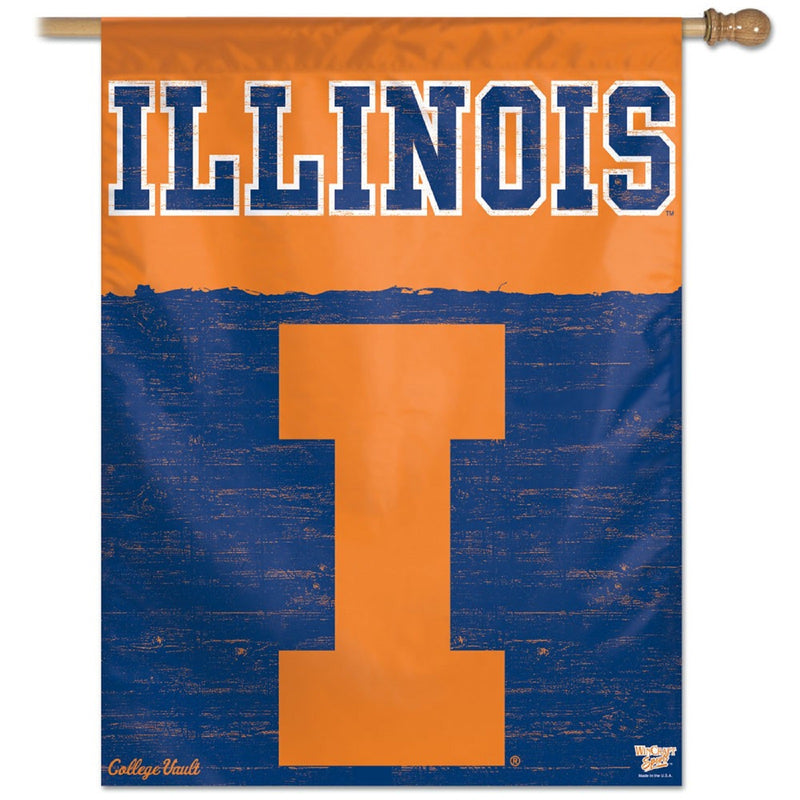 U of Illinois Verticle Flag - STL Authentics