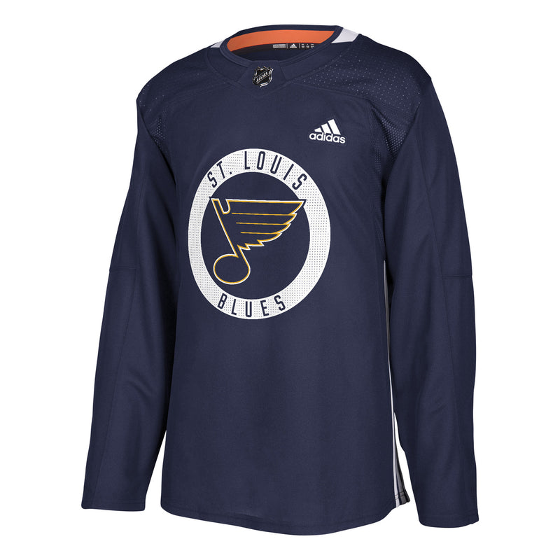 St. Louis Blues adidas Authentic Practice Jersey - Navy