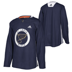 St. Louis Blues adidas Authentic Practice Jersey - Navy - STL Authentics