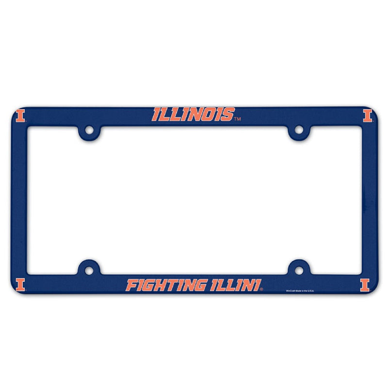 University of Illinois License Plate Frame - STL Authentics