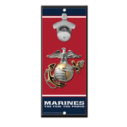 Marines WinCraft 5x11 Bottle Opener Wood Sign | STL Authentics