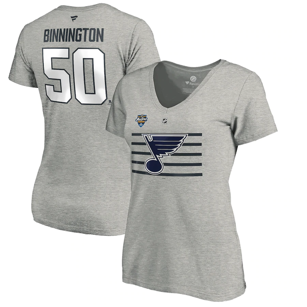 St.Louis Blues Fanatics Women's NHL All-Star 2020 Binnington  Name & Number tee - STL Authentics