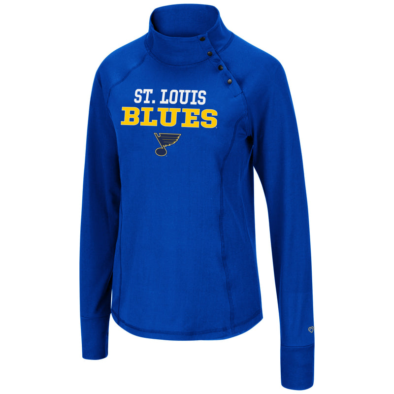 Ladies L/S Mock Neck - STL Authentics
