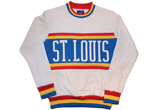 ST. LOUIS BLUES SERIES SIX RETRO COLOR BLOCK SWEATER - STL Authentics