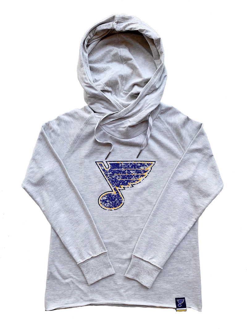 St Louis Blues Ladies Crossover Bluenote Hoodie - STL Authentics