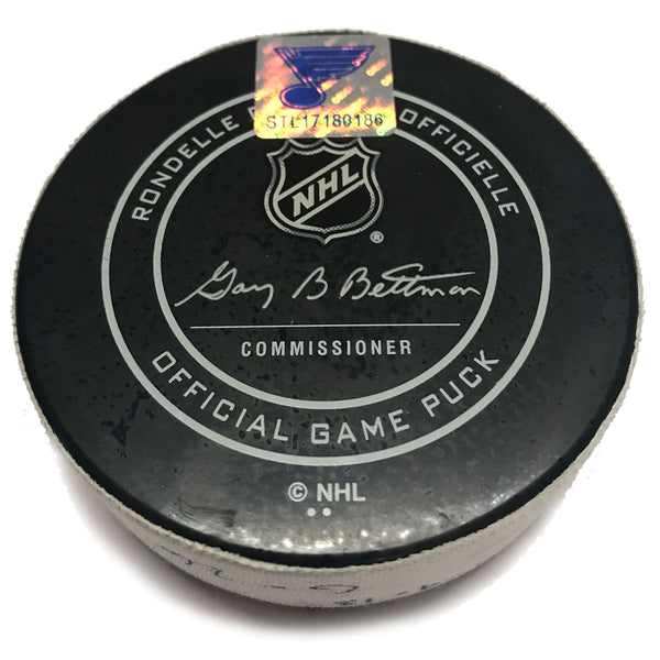 St. Louis Blues Game Scored Puck #26 Paul Stastny - Jan. 9
