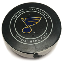 St. Louis Blues Game Scored Puck Minnesota Wild #17 Marcus Foligno - Feb. 6 | STL Authentics