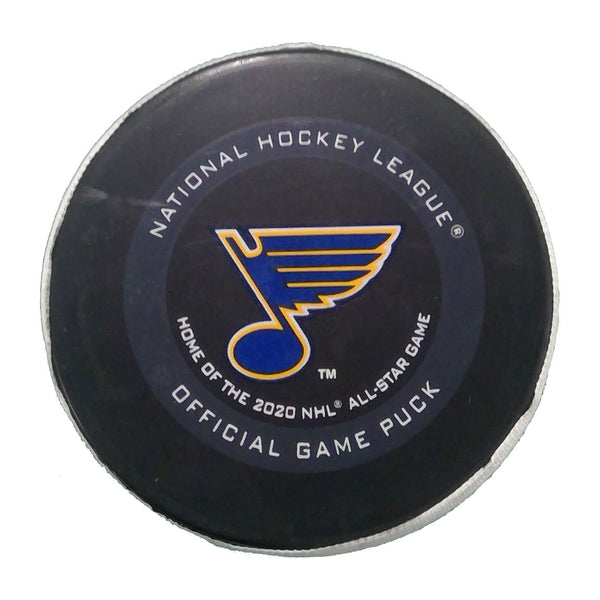 Blues Goal Scored Puck #90 Ryan O'Reilly - February 25, 2020