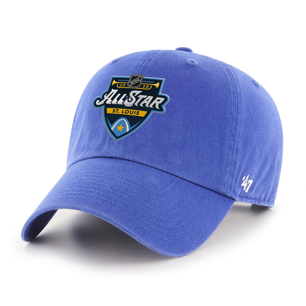 NHL All-Star 2020 47 Brand Primary Event Logo Clean Up Cap - Royal | STL Authentics