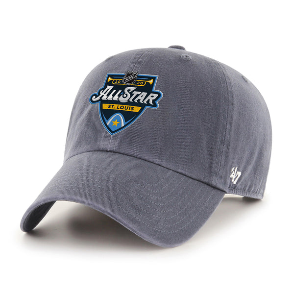 NHL All-Star 2020 47 Brand Primary Event Logo Clean Up Cap - Grey - STL Authentics