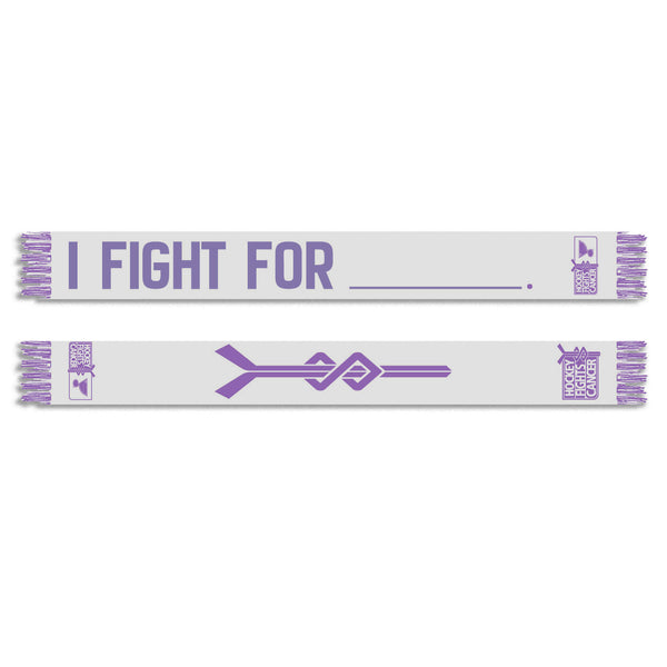 St. Louis Blues Hockey Fights Cancer Scarf - White - STL Authentics