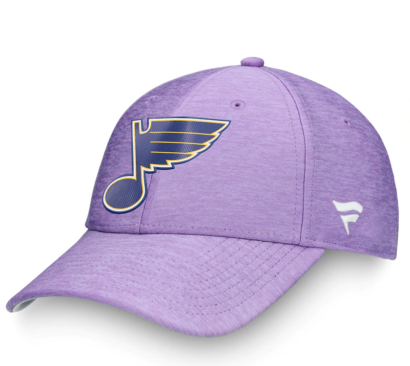 Fanatics Mens's Heather Purple St. Louis Blues 2020 Hockey Fights Cancer Adjustable Hat