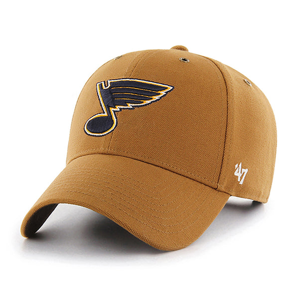 St. Louis Blues Carhartt x '47 Brand MVP Structured Adjustable Hat - Brown
