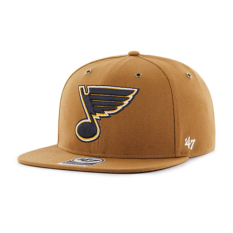 St. Louis Blues Carhartt x '47 Brand Captain Snapback Hat - Brown