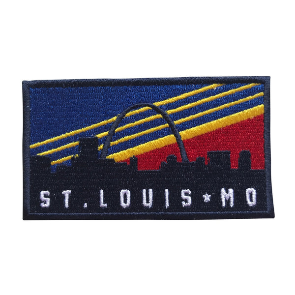 St. Louis MO Skyline Retro Heat Applicated Patch