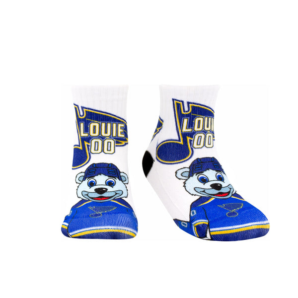 St. Louis Blues Sublime Designs Louie and Blue Note Toddler Socks - STL Authentics