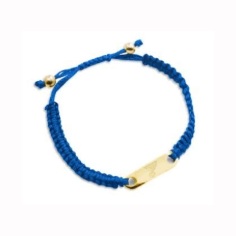 St. Louis Blues Cord Bracelet with Blue Note Plate - STL Authentics