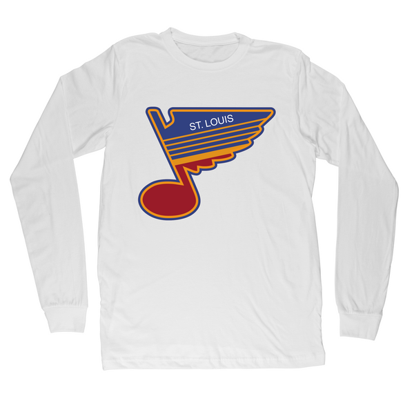 ST.LOUIS BLUES SERIES SIX RETRO NOTE LONG SLEEVE TEE