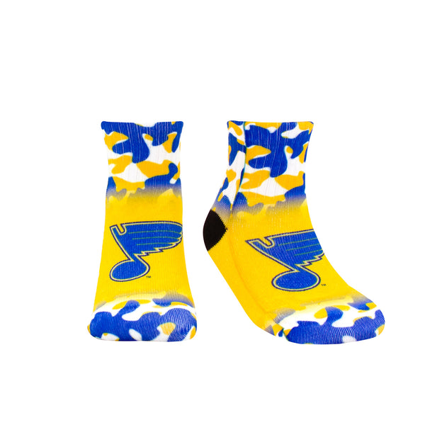 St. Louis Blues Toddler Color Camo Socks - STL Authentics