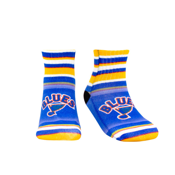 St. Louis Blues Toddler Retro Logo Striped Socks