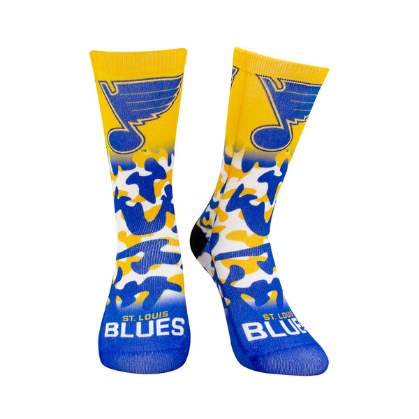 St. Louis Blues Youth Color Camo Socks - STL Authentics