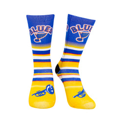 St. Louis Blues Youth Retro Logo Striped Socks - STL Authentics