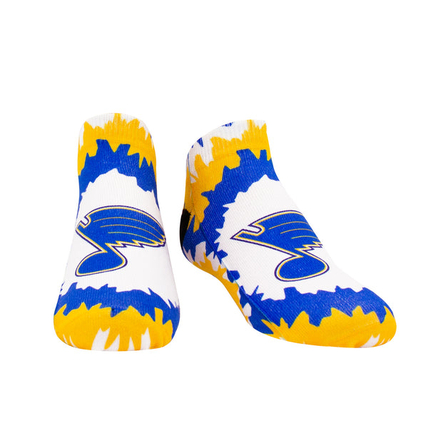 St. Louis Blues Note Tie Dye No Show Socks - STL Authentics