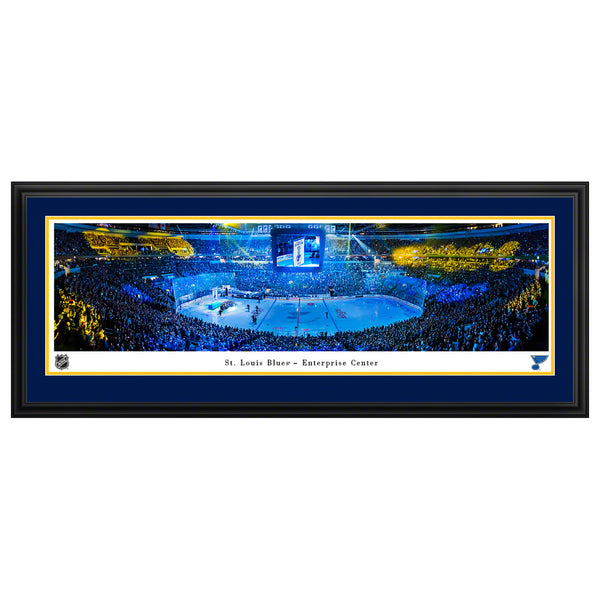 St. Louis Blues Blakeway Banner Raising Deluxe Frame Panorama - STL Authentics