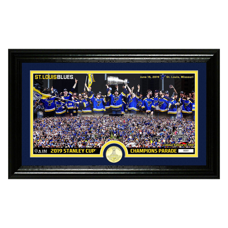 St. Louis Blues Highland Mint 2019 Stanley Cup Champions Parade Celebration Limited Edition Photo Mint | STL Authentics