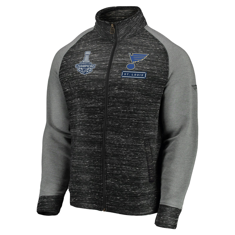 St. Louis Blues Fanatics 2019 Stanley Cup Final Champions Full-Zip Podium Jacket - Charcoal/Grey
