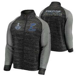 St. Louis Blues Fanatics 2019 Stanley Cup Final Champions Full-Zip Podium Jacket - Charcoal/Grey | STL Authentics