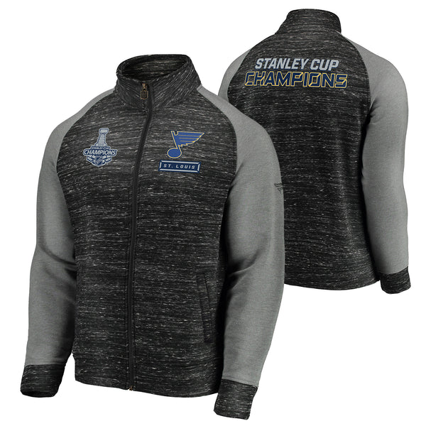 St. Louis Blues Fanatics 2019 Stanley Cup Final Champions Full-Zip Podium Jacket - Charcoal/Grey - STL Authentics