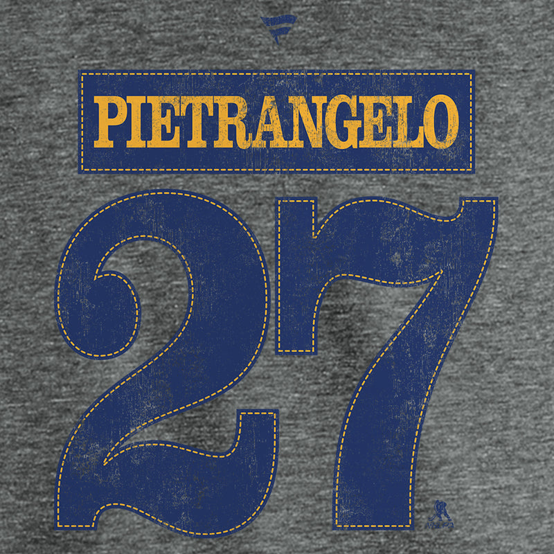St. Louis Blues Fanatics 2019 Stanley Cup Final Champions Offensive Zone Alex Pietrangelo #27 Name & Number Tri-blend Tee - Grey