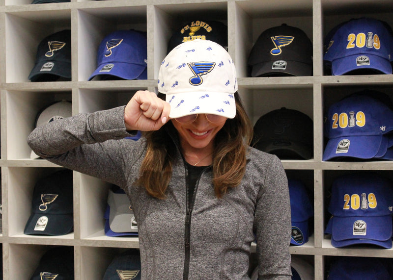Stl. Blues '47 Brand Ryan O'Reilly Women's Confetti Trumpet Hat - STL Authentics