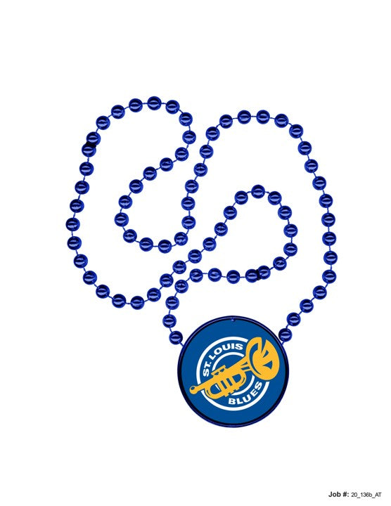 St. Louis Blues Rally Beads - 2 Pack