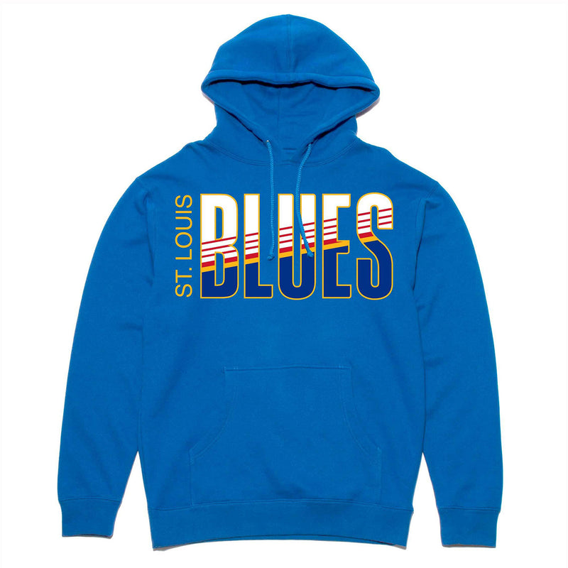 St. Louis Blues Violent Gentlemen Retro Block Fleece Hoodie - Royal - STL Authentics