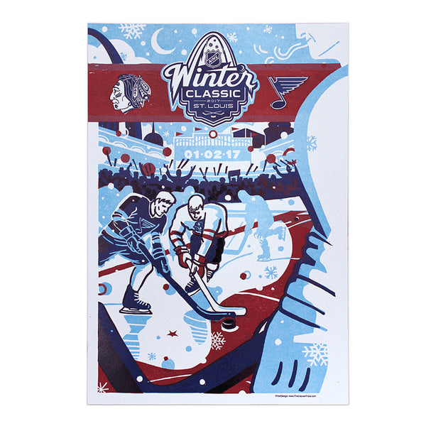 NHL Winter Classic 2017 St. Louis Official Poster - STL Authentics